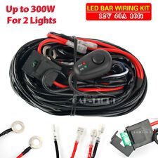 40A 12V Wiring Harness Kit ON / OFF Switch Relay For 72W~300W LED Work Light Bar