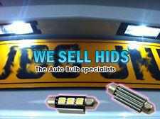 2PCS 3 SMD LED 36mm 239 272 CANBUS NO ERROR XENON WHITE NUMBER PLATE LIGHT BULB*