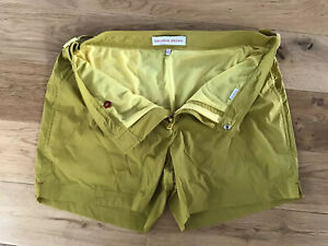 """Orlebar Brown Setter Sport Swim Shorts Size 32""""W Mustard In Colour New"""