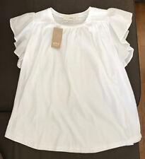 ATHE VANESSA BRUNO Blouse blanc Dentelle White Crochet Shirt Lace Trim Top NWT