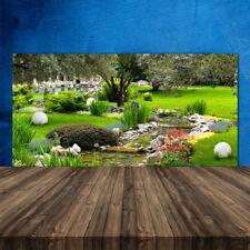 Küchenrückwand aus Glas ESG Spritzschutz 120x60cm Garten Natur
