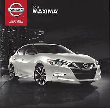 2017 NISSAN - MAXIMA S/SV/SL/SR/ME and PLT  Models 16 Page Brochure