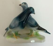 """Vintage Goebel West Germany Porcelain Morning Doves Bird Figurine 6"""" Tall"""