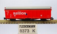 """Fleischmann N 8373K; Schiebewandwagen """"Railion"""", in OVP /J229"""