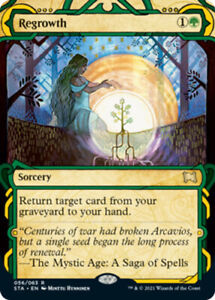 1x (056/063) Regrowth - FOIL MTG Strixhaven: Mystical Archive NM Magic Foil