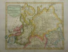 Antique Map of Russia in Europe by Robert de Vaugondy 1795