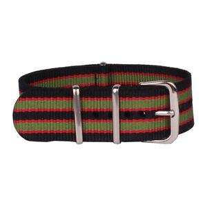 24mm 22mm 20mm 18mmFiber Belt Watch Black Red femail Nylon Strap Wristwatch Band