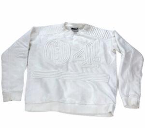 Ivy Park Sweat Jacket Hoodie Women's Oversized Textured White Logo Beyonce XS