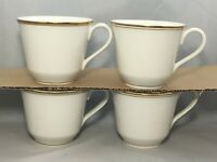 4 Royal Doulton New Romance Oxford Gold Tea Cups/Mugs