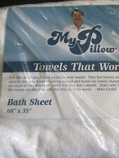 New Xl White My Pillow Cotton Bath Sheet Towel Usa 68x35 Beach
