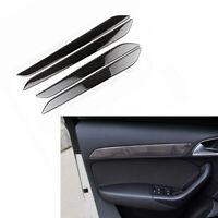 4Pcs For Audi Q3 2014-2018 Carbon Fiber  Interior Door Handle Sticker Cover Trim