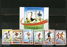 Afghanistan 1996 FOOTBALL COUPE DU MONDE FRANCE Ensemble de 6 Timbres & S/S MNH