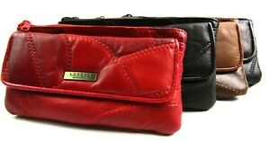 Womens Ladies Premium Super Soft Real Leather Patchwork Purse Card Holder Wallet