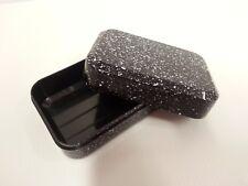 In plastica nera Scatola Soap Dish holder per i viaggi vacanze Roulotte Campeggio WC