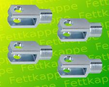 4 x Gabelkopf - Gabelgelenk 10x20 DIN71752 - M10 - Ohne Zubehör!!