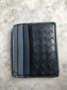 BOTTEGA VENETA BLUE CREDIT CARD HOLDER - PRE OWNED