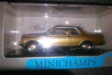Minichamps 1:43, Mercedes Benz W 123 Coupé Gold, Neu New NOS Mintboxed OVP