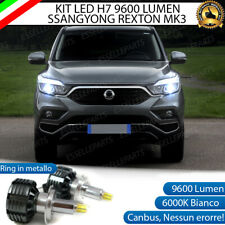 KIT FULL LED SSANGYONG REXTON MK3 LED H7 6000K XENON CANBUS 9600 LUMEN LED 360°