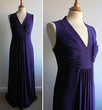 PLANET Purple Maxi Dress Full Length Flattering Ruched Bodice Size 12