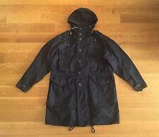 RRL Ralph Lauren Mens Navy Blue Cotton Hooded Parka Jacket Coat S Small $890
