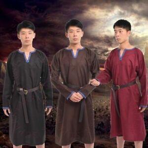 Men's Shirt Tunic Tops Renaissance Viking Norseman Saxon Larp Medieval Costume