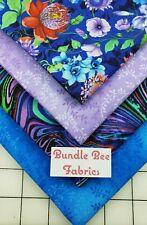 New ListingFat Quarter bundle lot of (4) new Vibrant Floral quilting 100% cotton