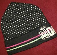 VTG 80s Stowe Co. Ski Snowboard X country Nordica Beanie Hat Cap Neon Retro ski
