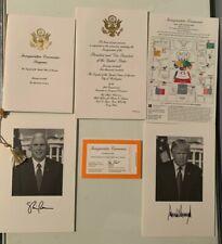 President Trump Inauguration Invitation Commemorative Pack & Program, Orange
