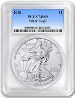 2018 1oz Silver Eagle PCGS MS69 - Blue Label