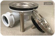 "Sink Waste for Large Hole Basket Strainer Plug NO OVERFLOW Chrome Finish 1 1/2"""