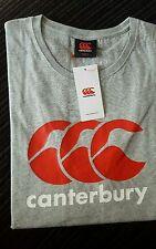 CANTERBURY Mens Rugby T-Shirt Grey Size Small BNWT