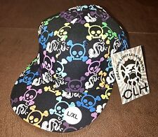 CLH Creating Limitless Heights Hat L/XL Fitted Cap Urban Hip Hop Skulls $ Black