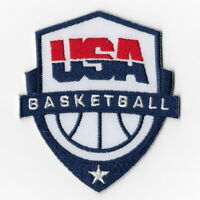 USA Basketball Iron on Patches Embroidered Patch Badge Sew USAB Applique Emblem