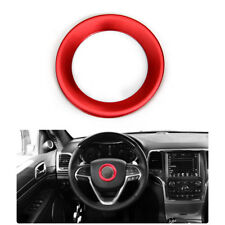 Interior Decor Steering Wheel Cover Trim Red For Grand Cherokee Cherokee 14-16