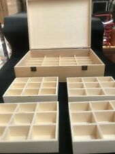wooden box extra large with 60 compartments