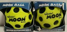 Set of 2 Original Waboba MOON BALL Hyper Bouncing Moon Balls - Lime Green - NEW