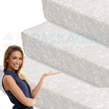 5 WHITE POLYSTYRENE FOAM SHEETS EPS70 SIZE 600 x 400 x 10mm SDN INSULATION