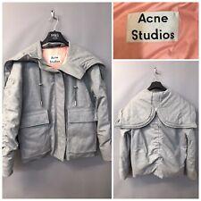 Acne Studios Grey Wool Jacket UK 10 EUR 36 Duck Down Feather