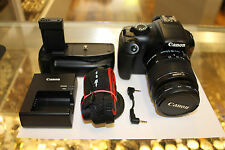 MINT Canon Rebel T3 12.2MP SLR With 18-55mm + Wide Angle lens + Battery Grip!
