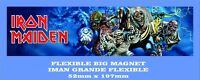 IRON MAIDEN BEST OF THE BEAST IMAN GRANDE 52mm X 197mm FLEXIBLE BIG MAGNET A0099