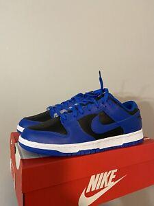 Nike Dunk Low Retro Black/Hyper-Cobalt/White Size 11.5