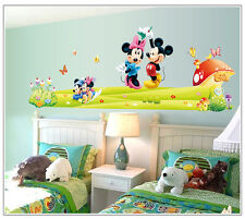 HUGE mickey & minnie mouse Removable Wall Stickers Decal Kids Home Decor