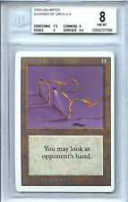 MTG Unlimited Glasses of Urza Magic the Gathering WOTC BGS 8.0 (8) NM-MT card