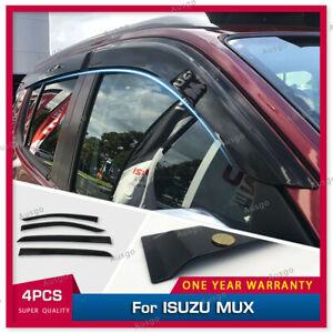 AUS Injection Weather Shields Weathershields For ISUZU MUX MU-X 2013+ #S