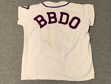 Vintage BBDO Employee Baseball Team Jersey Advertising Agency New York City