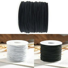 0.8mm/1mm Elastic Bead Cord Round Cylindrical Core-spun-Sewing Craft Art