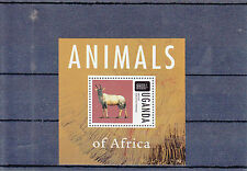 Uganda 2013 MNH Animals of Africa 1v S/S Antelope Wild Animals Mammals