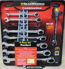 GearWrench 8-piece Standard Ratcheting Combination Wrench Set SAE 9595