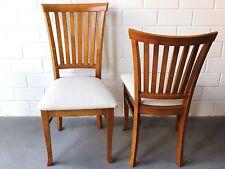 Stuhl Mit Polster Im Landhaus Aus Holz U0026 Leinen Für Esszimmer Hotel 2x  Stühle