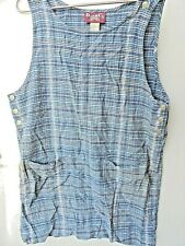 Vintage Denim & Company jeans wear 1990's Denim Jumper dress Size L